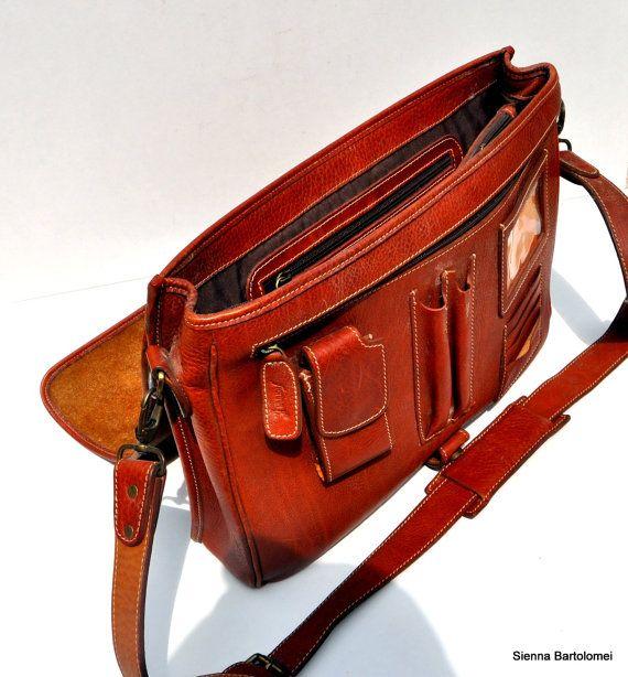 Leather handmate diplomat/office bag  Italian by SiennaBartolomei