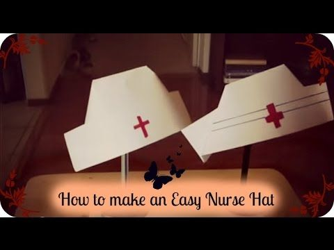 How to make an Easy Nurse Hat - YouTube