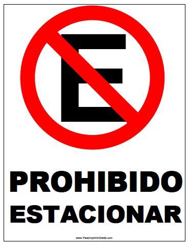 Señal de Prohibido Estacionar motocicletas