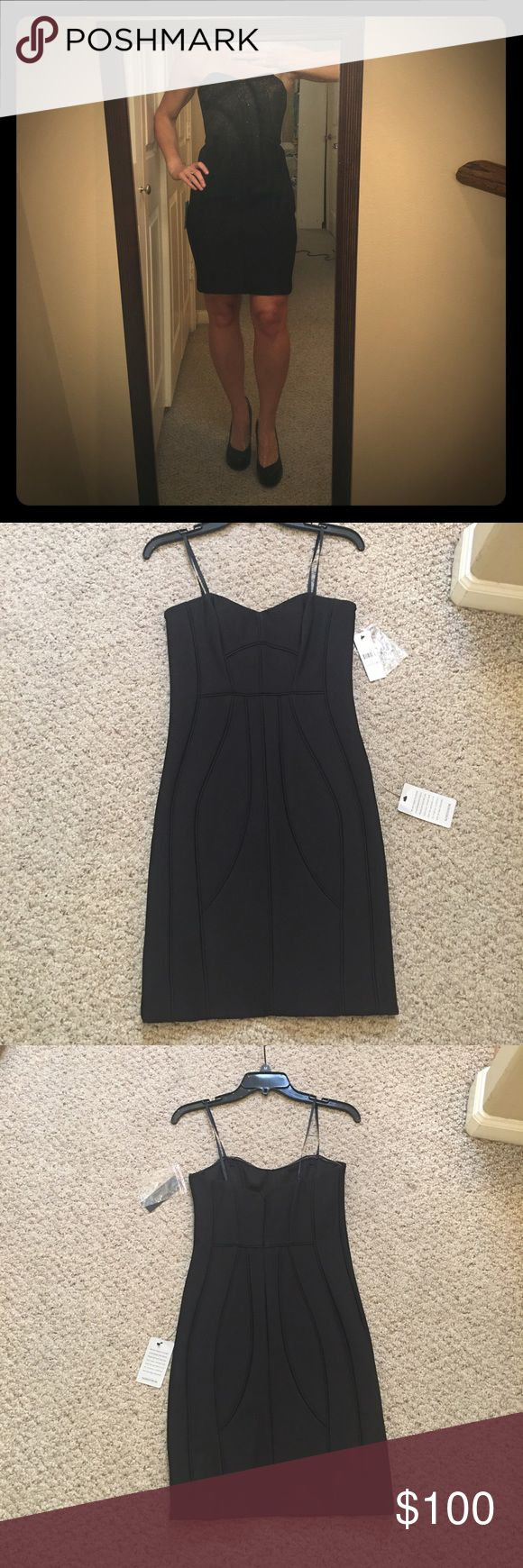 LAUNDRY by SHELLI SEGAL COCKTAIL DRESS Laundry by Shelli Segal black cocktail dress with corset like design.  Your new LBD!   THIS DRESS HAS NEVER BEEN WORN! Laundry by Shelli Segal Dresses Strapless
