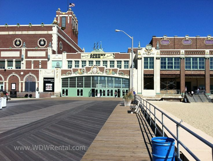 Convention Hall, Asbury Park, New Jersey, After Sandy With Rebuilt Boardwalk.