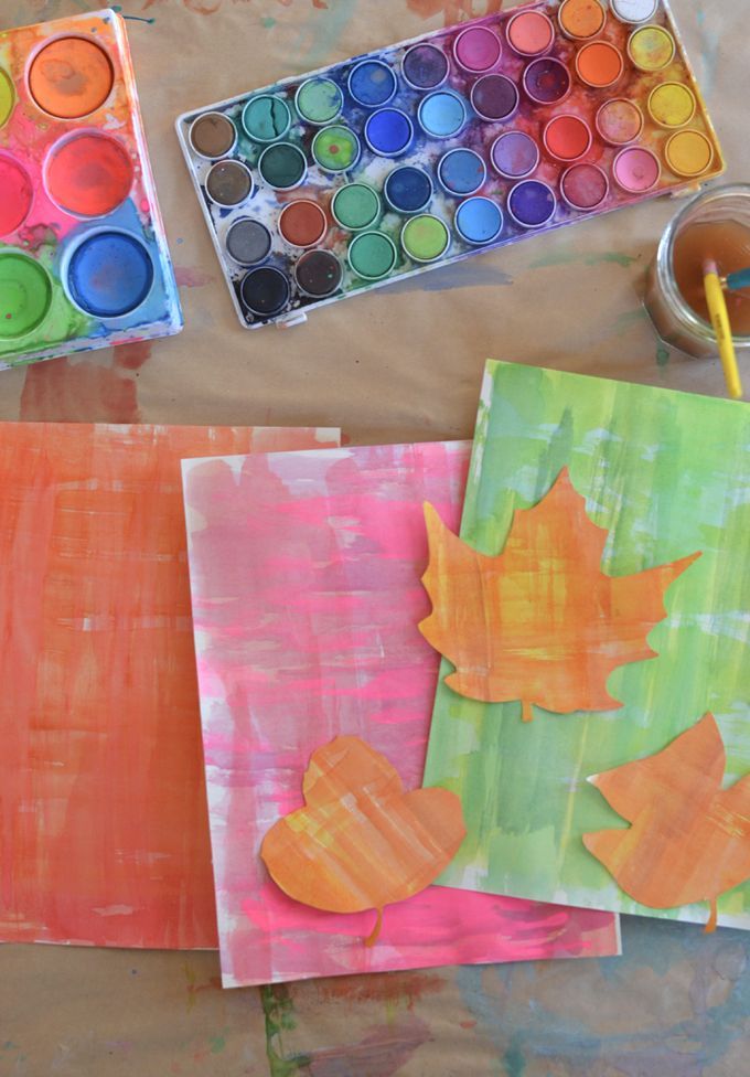 Diy Watercolor Leaf Place Cards Watercolor Art Diy Art Videos