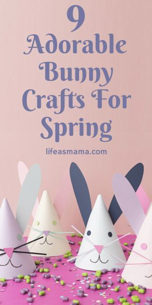 One of the best times to craft with the kiddos is around a holiday. Bunnies are so cute and of course exciting for kids because of the Easter bunny, so you can imagine how happy they'll be to make some bunny crafts. Here are some ideas for a few adorable