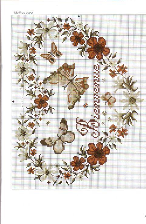 182 best images about cross stitch hearts on pinterest love birds punto - Salon fil en aiguille ...