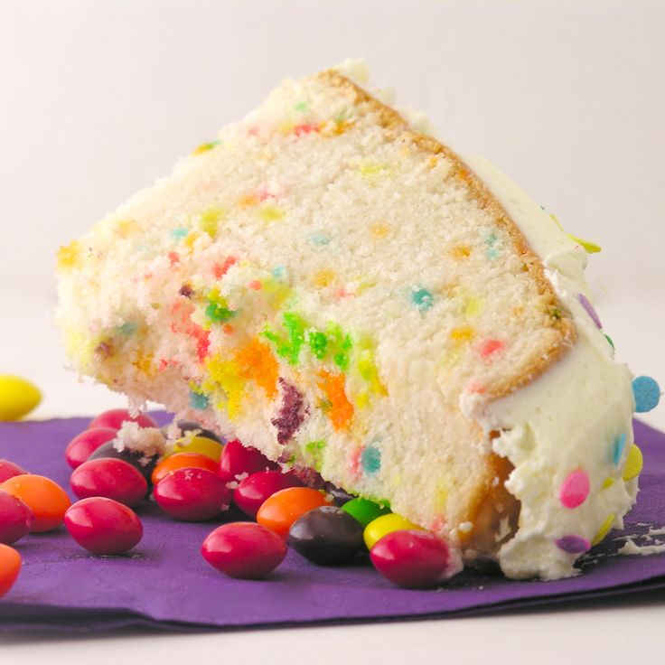 Imagine the moment you cut into a cake and pull that first piece out.  Now imagine a waterfall of candy pouring out of the center of the cake.  Every child's dream come true!  This recipe was…