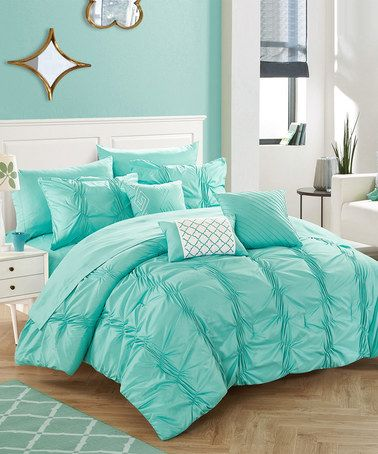 Loving this Turquoise Phoebe Comforter Set on #zulily! #zulilyfinds