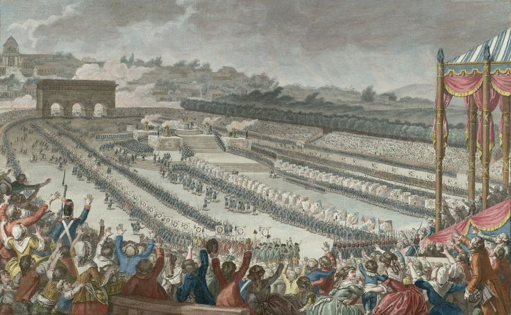 (1790, July 14) The Festival of Federation, held in the Champ de Mars.