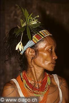 Hommes fleurs -  île de Siberut, Indonésie.  Régis Colombo