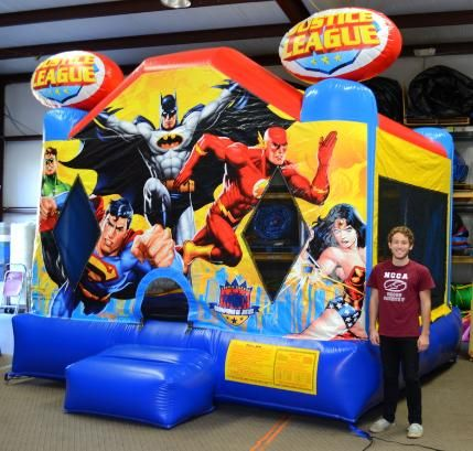 Superhero Justice League Bounce House Jumper - Affordable Moonwalk Rentals - Covington, Georgia