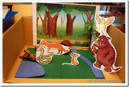 Our Gruffalo diorama and other ideas for The Gruffalo and The Gruffalo's Child.