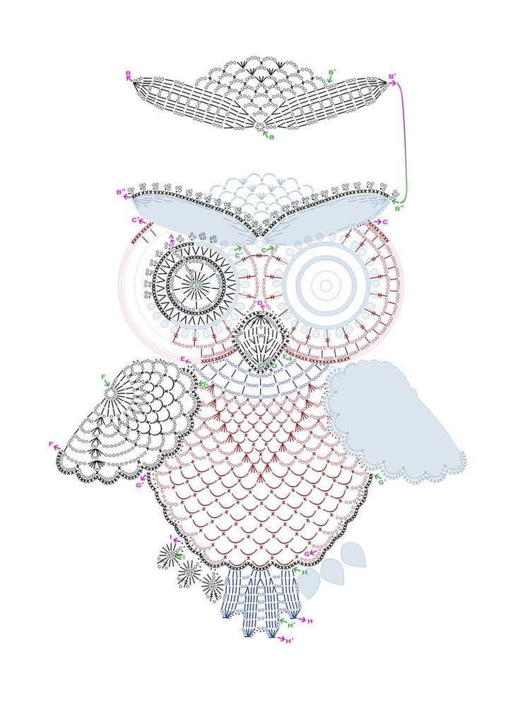 Crochet owl pattern by tasamajamarina ♥LCD-MRS♥ diagram ONLY?