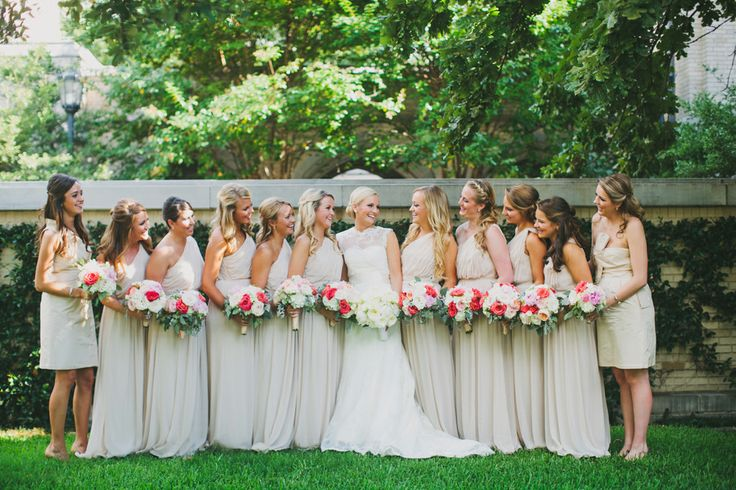 large bridal party...pretty neutrals http://eventsbyclassic.com