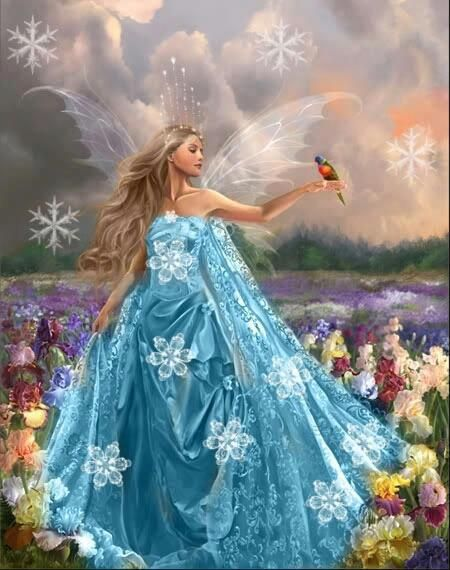 This is probably the fairy I saw once on my grandma's windowsill, just after I had lost a tooth.