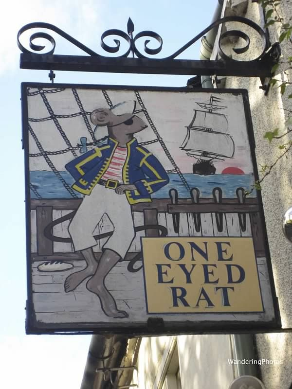 Wandering Photos - Pub Sign for the One Eyed Rat - Ripon North Yorkshire England