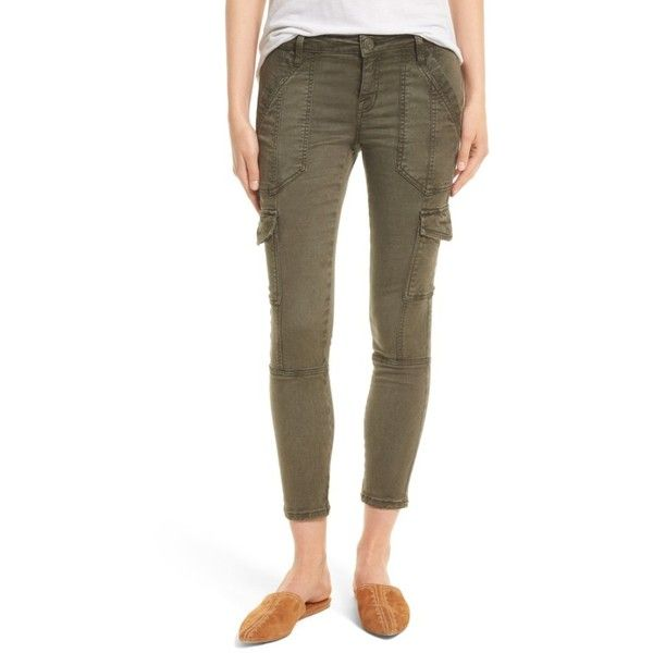 Women's Joie Okana Skinny Cargo Pants ($218) ❤ liked on Polyvore featuring pants, washed fatigue, skinny leg pants, joie, super skinny pants, brown trousers and cargo trousers