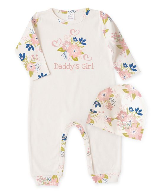 Ivory 'Daddy's Girl' Playsuit & Beanie - Infant