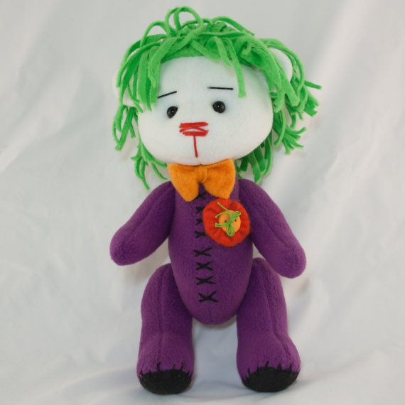 Joker bear by MamaKarloShop on Etsy