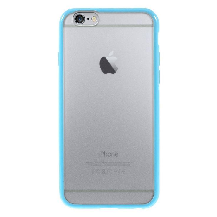 Průhledný kryt pro iPhone 6 s modrým rámečkem #AllCases.cz #kryt #case #iphone #iphone6