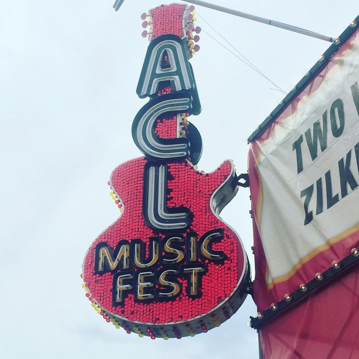 ACL Guitar Sign made by Ion Art, Inc. #acl #guitar #sign #ionart #custom #design #austincitylimits #music #festival #austin #texas #atx #pink #neon #blade #iconic