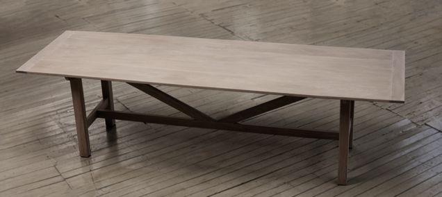 Canteen Table in limed American oak.