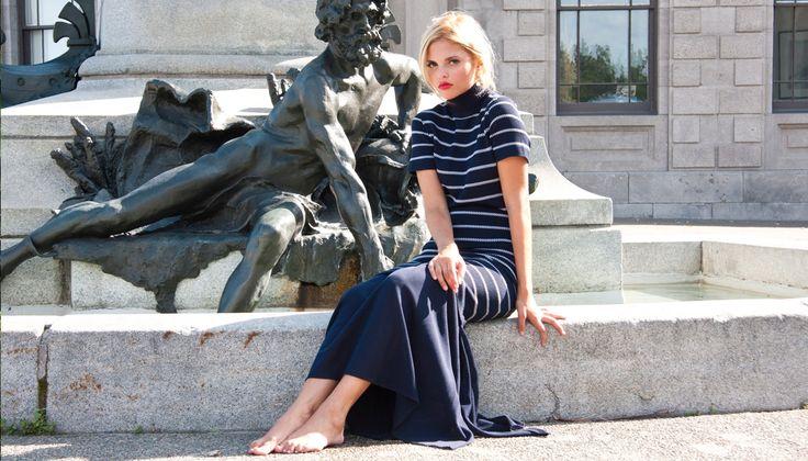 Editorial shoot featuring a Karl Lagerfeld dress  | Shop by lookbook inside Sabrina's Closet www.sabrinascloset.com