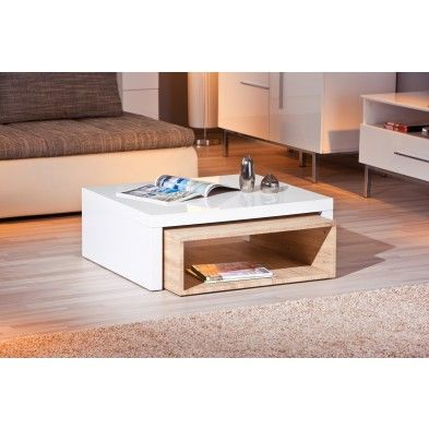 17 best ideas about table basse bois blanc on pinterest - Table basse bois et blanc laque ...
