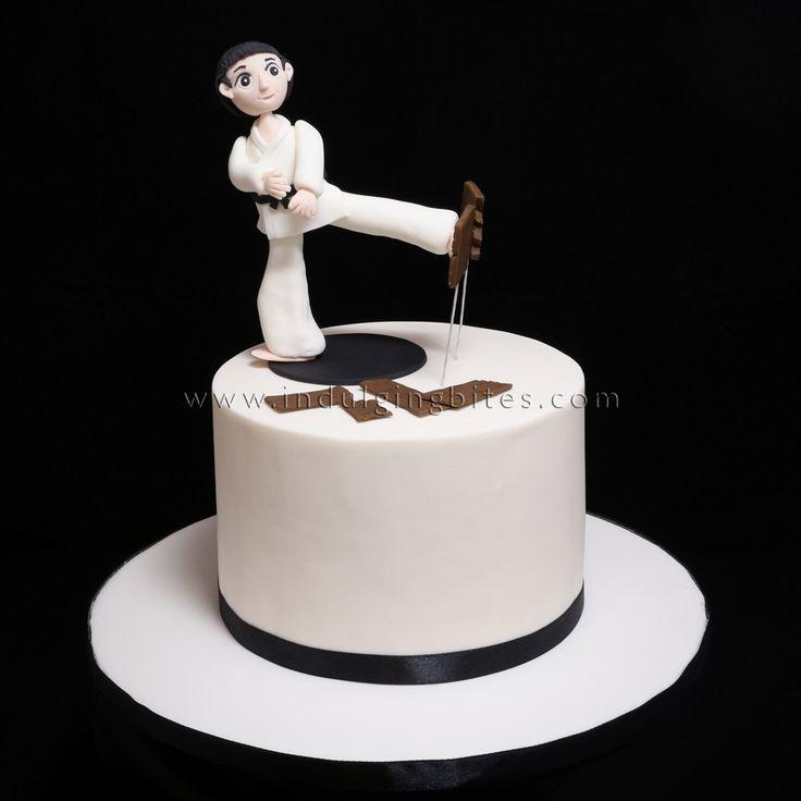 Karate Kid Design Birthday Cake