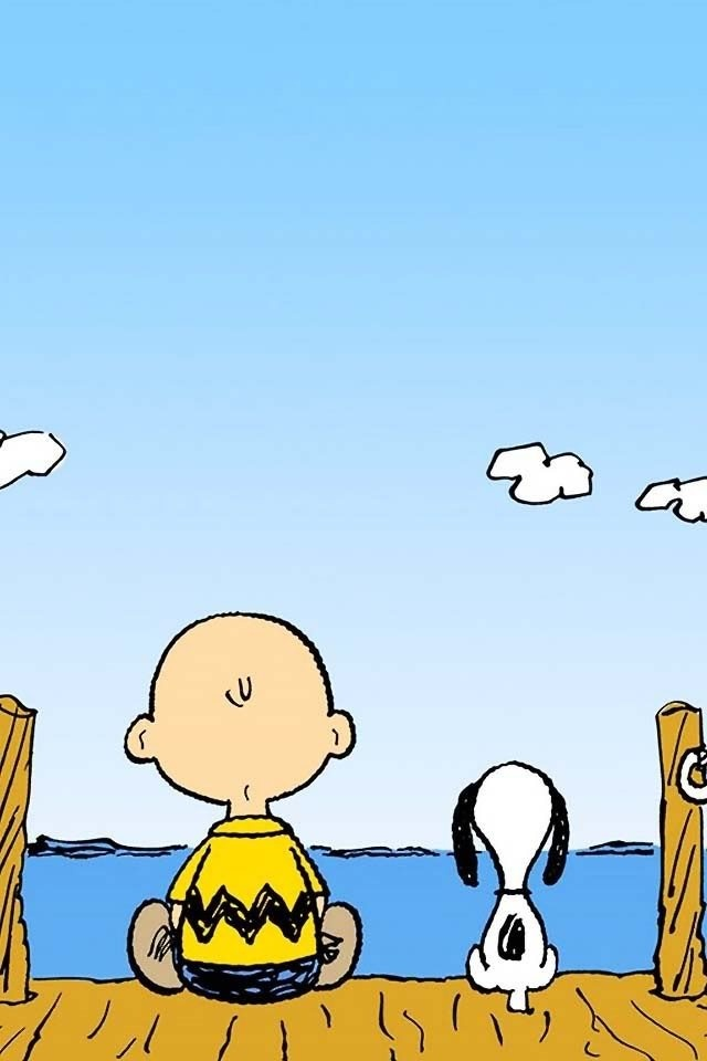 Charlie Brown & Snoopy Sittin on the Dock of the Bay