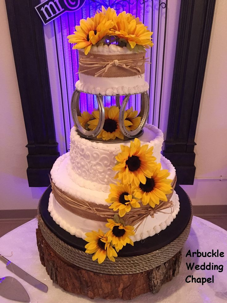 Gorgeous country cake baked for Arbuckle Wedding Chapel by Tammy D's Catering.  Oklahoma