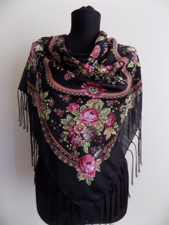 13 best RUSSAN SCARF-FLORAL SCARF-RUSSAN SHAWL-FRNGE ...