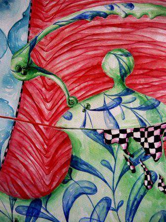 detalii pictură - Grațiela Aolăriți