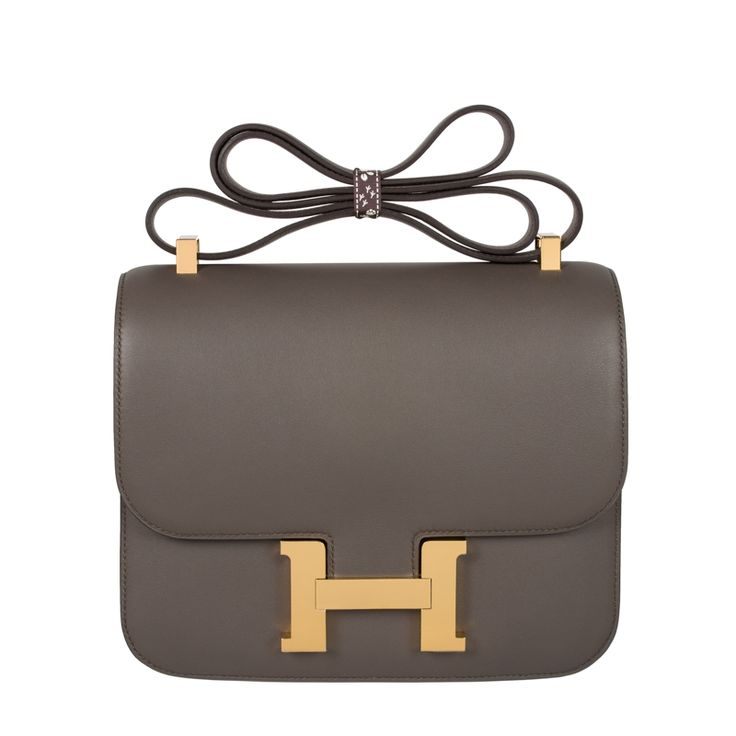 HERMES 24CM CONSTANCE ETAIN SWIFT LEATHER GOLD HARDWARE