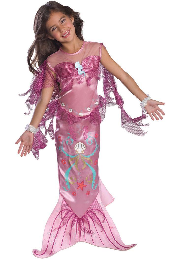 pink mermaid costume child girls mermaid costume pink childrens costumes at escapade
