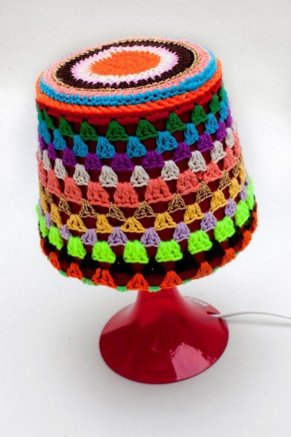 bedside lamp with crochet cover by petitus on Etsy, $30.00