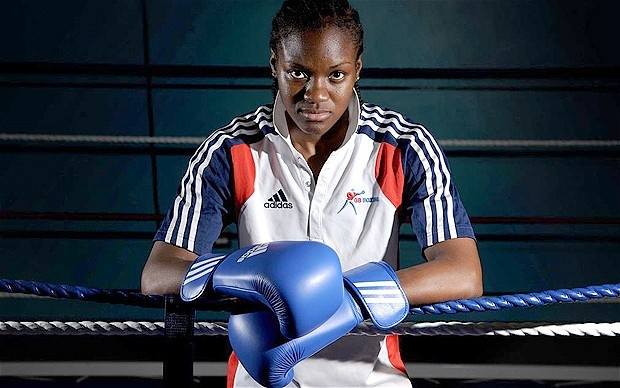 Nicola Adams, one of the first three women to represent Britain in flyweight boxing. Nicola and Claudia have been enjoying exchanges on twitter