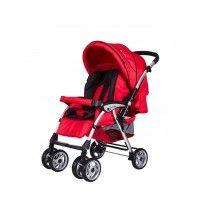 Pierre Cardin Bolton Çift Yönlü Bebek Arabası Kırmızı Siyah