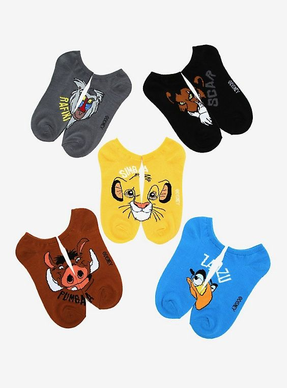 Disney The Lion King Characters Ankle Socks 5 Pair in 2019 | Disney