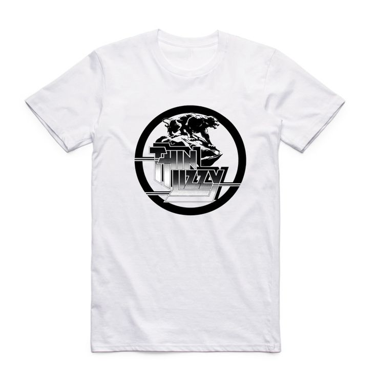 Aliexpress.com: Comprar 2017 Hombres de La Moda de Impresión de Banda de Rock Heavy Metal Thin Lizzy Camiseta Hipster Top Casual Tee o cuello de Manga Corta de Verano Fresco de la Camiseta de cool t shirt fiable proveedores en Teepark Store
