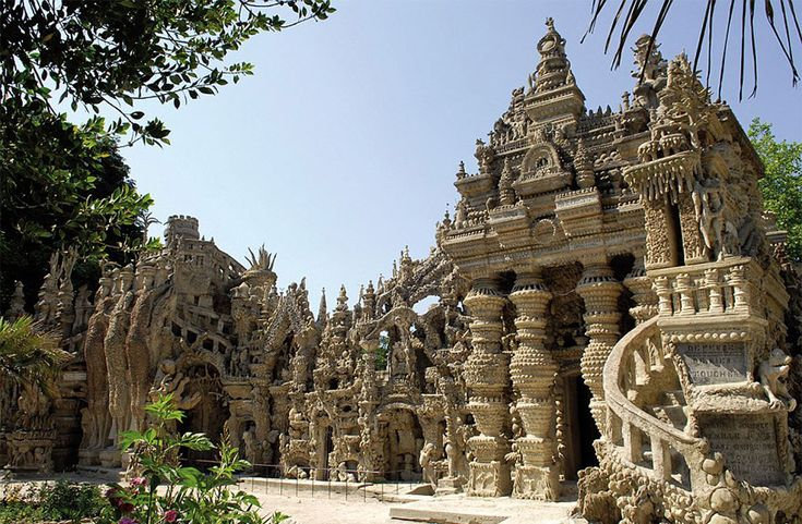palace-ideal-33-years-postman-ferdinand-cheval-15 Ferdinand Cheval, a French postman with no formal architectural or artistic training, spent 33 years building this extraordinary structure by cementing together oddly-shaped rocks that he found along his mail route.