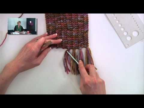 She wraps yarn around a piece of cardboard, you'll love what this does for her project! – Crafty House