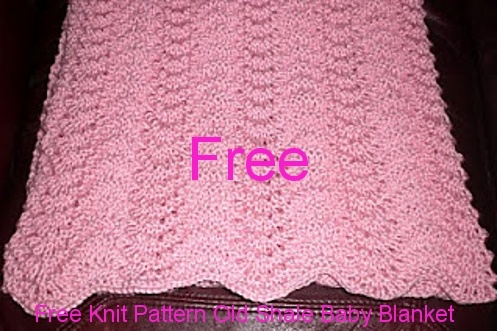 Old Shale Baby Blanket Knit Pattern Knitted Blankets