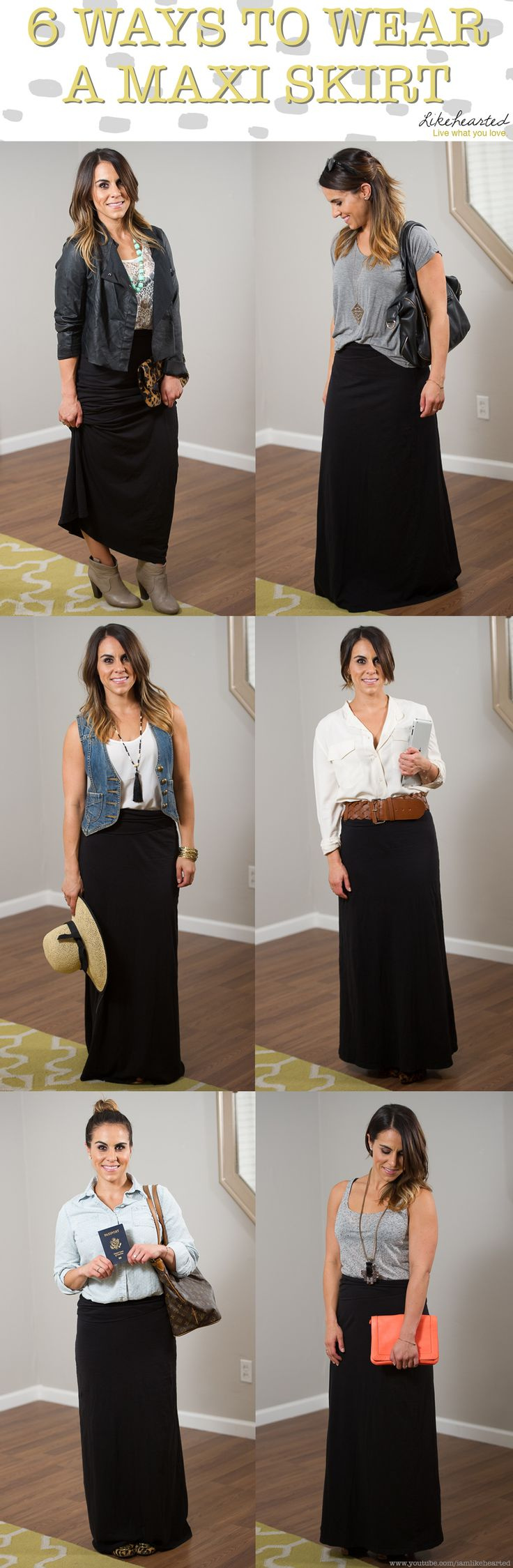 6 ways to wear a maxi skirt