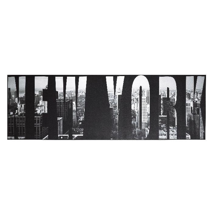 Πίνακας Cosmopolitan Πίνακας σε σκούρες αποχρώσεις μαύρου και γκρι με τρία διαφορετικά λογότυπα: New York, London, Paris.  Ψηφιακή εκτύπωση σε καμβά. Οι διαστάσεις και η τιμή αφορούν κάθε τεμάχιο χωριστά.