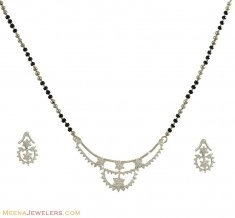 White Gold Diamond Mangalsutra Set ( Diamond MangalSutras )