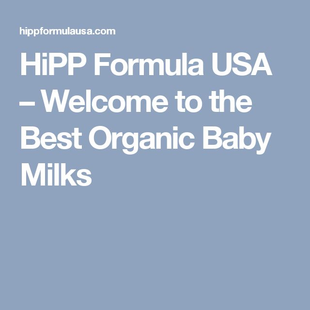 HiPP Formula USA – Welcome to the Best Organic Baby Milks