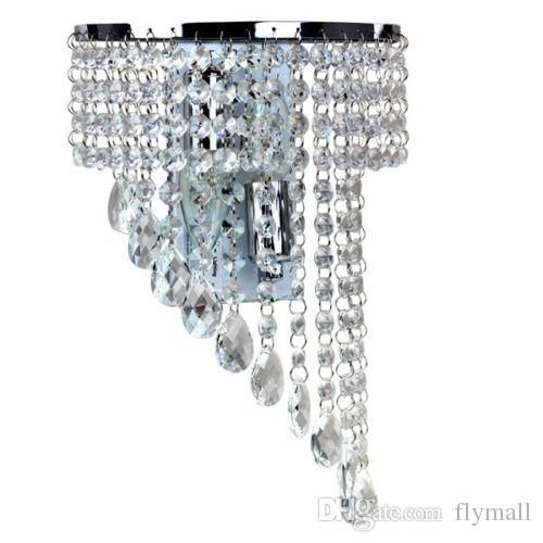 Buying crystal wall lamp k9 chandelier light e14 led bulb lamp living room bedroom bedside fashion wall sconce hallway hotels corridor lamp here will be your only and best option. flymall offers different kinds of useful and pretty bronze chandelier, wooden chandeliers and bubble chandelier here for a good saving.