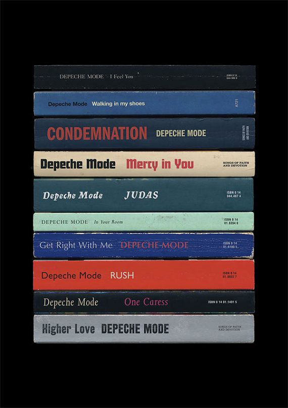Depeche Mode Songs of Faith And Devotion Poster Print Albums As Books on Etsy, $28.19