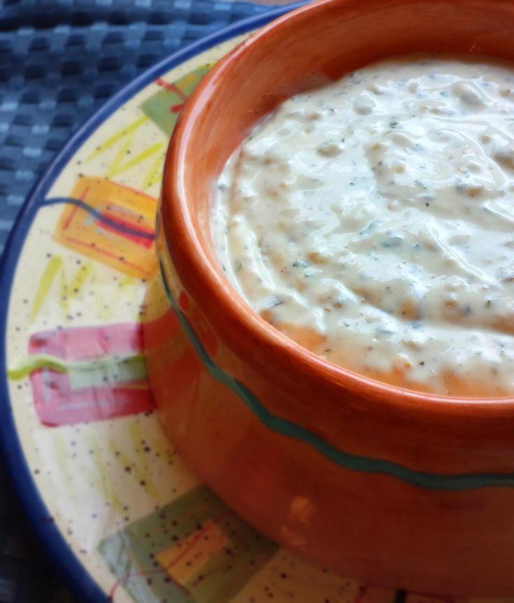 Creamy Tomatillo Jalapeno Ranch Dip via @flavormosaic