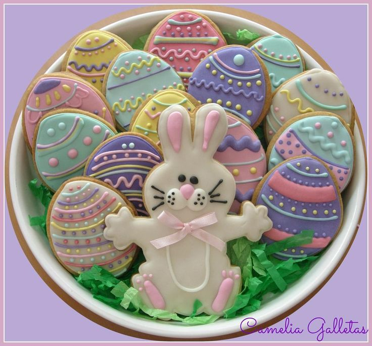 Decorated Easter egg sugar cookies | Cookie Connection