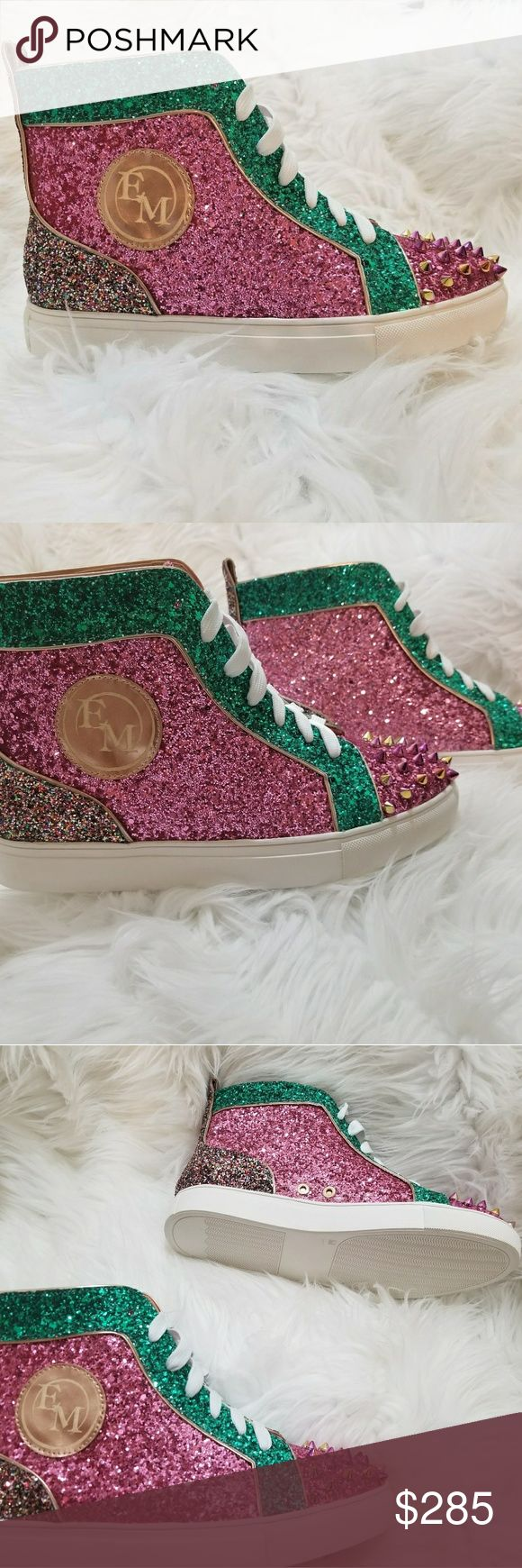 Women Sneakers Brand new Women sneaker encrusted with glitter and swarovski crystals. Stuffed toe. Statement shoe! Shoes Sneakers